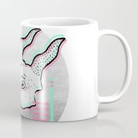 glitch Mugs featuring Glitch by Sonia Lazo