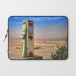 Old Gas Pump in Desert Laptop Sleeve