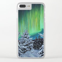 Northern Lights, Algonquin Park Clear iPhone Case