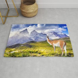 Patagonia landscape in Torres del Paine, Chile Rug