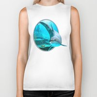 dolphin Biker Tanks featuring Dolphin by Simone Gatterwe
