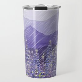 Purple Mountain Rain Travel Mug