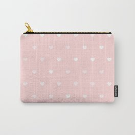 Baby Pink Heart Pattern Carry-All Pouch
