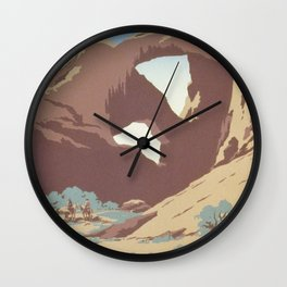 Vintage Travel Poster - See America Wall Clock