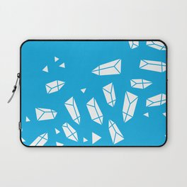 White Crystals on Blue Laptop Sleeve