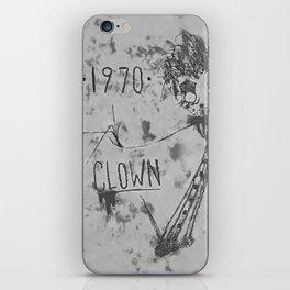1970 | CLOWN | BW iPhone Skin