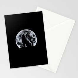 Wolf And Moon Stationery Cards