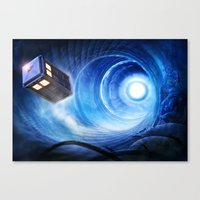 doctor who Canvas Prints featuring Doctor Who by Joe Roberts