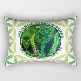 Garden Guardian Gnome in Spring Greens Rectangular Pillow