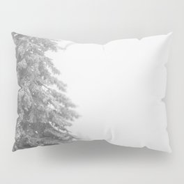Snow Lift // Ski Chair Lift Colorado Mountains Black and White Snowboarding Vibes Photography Art Pr Pillow Sham