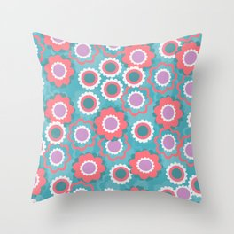 Spring floral field Throw Pillow