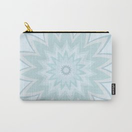 Turquoise Floral Mandala Carry-All Pouch