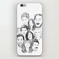parks and recreation iPhone & iPod Skins featuring Parks and Recreation 'Rec a Sketch' by Moremeknow