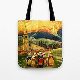 Vintage Abruzzo Italy Travel Tote Bag
