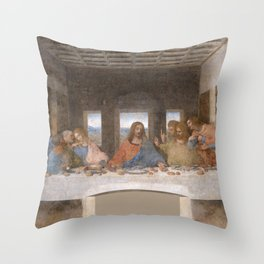 Leonardo da Vinci - L'Ultima Cena di Throw Pillow