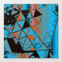 Molecular Glitch Canvas Print
