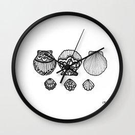 Clam Shells Wall Clock