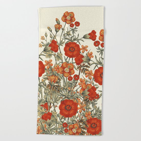 Vintage Garden 10 (Sunset Beauty) Beach Towel