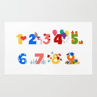 numbers Area & Throw Rugs featuring numbers by Alapapaju