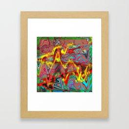 Oscillating Shapes I Framed Art Print