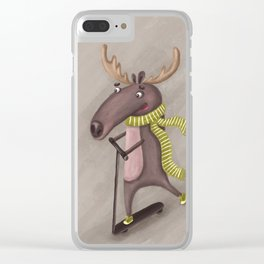 mad moose Clear iPhone Case
