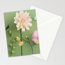 Crepe paper flowers Stationery Cards