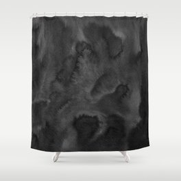 Black Ink Art No 1 Shower Curtain