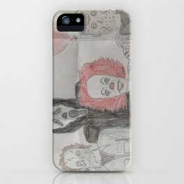 Horror Characters iPhone Case