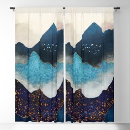 Indigo Peaks Blackout Curtain