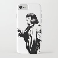 mia wallace iPhone & iPod Cases featuring Mia Wallace by El Kane