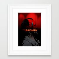 birdman Framed Art Prints featuring Birdman by edgarascensao