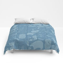 Russian Woodland Animal Print Comforters