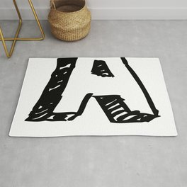 A Letter as Marker Sketch in Black Rug