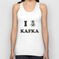 kafka Tank Tops featuring Kafka by Ana Laya