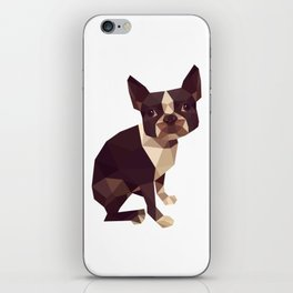 Low Polygon Boston Terrier iPhone Skin