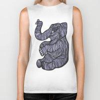 baby elephant Biker Tanks featuring Baby Elephant by Kate Shea