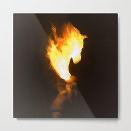 Horse Head of Fire Metal Print