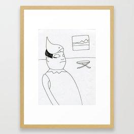 bird hat Framed Art Print