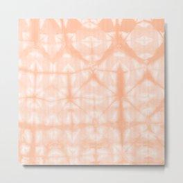 Tie Dye 2 Peach Metal Print