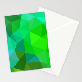 Emerald Low Poly Stationery Cards