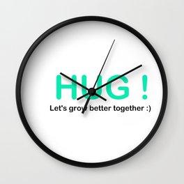 HUG ! Wall Clock
