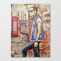 niall Canvas Prints featuring Niall by Iván Gabela