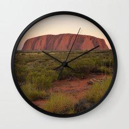 Sunset at Uluru Wall Clock