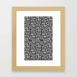 Feels Framed Art Print