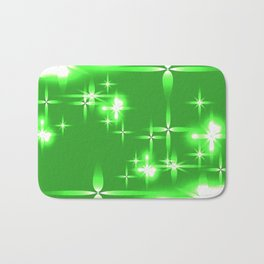 Vector light green shining background with light stars. For registration of paper or banners. Bath Mat