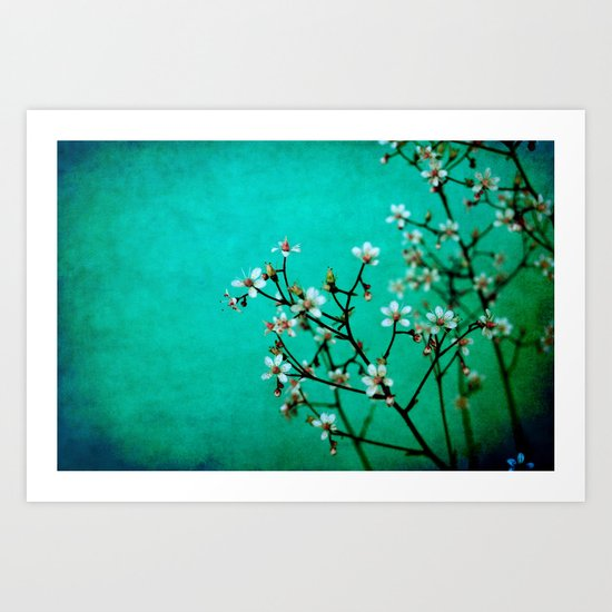 moody florets Art Print