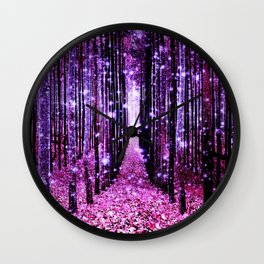 Magical Forest Pink & Purple Wall Clock