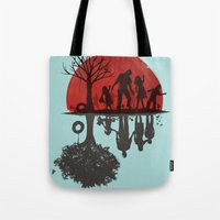 dead Tote Bags featuring A Family Once by Jay Fleck