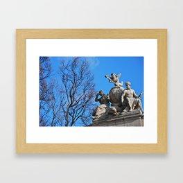 Statues Framed Art Print