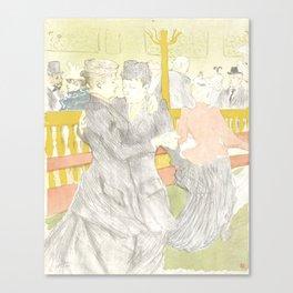"""Henri de Toulouse-Lautrec """"Two Woman Dancing"""" Canvas Print"""